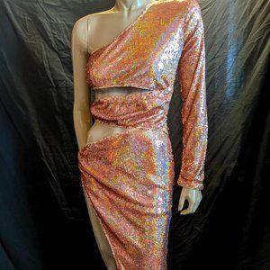 Banjul Sequin Slit Dress Size Small